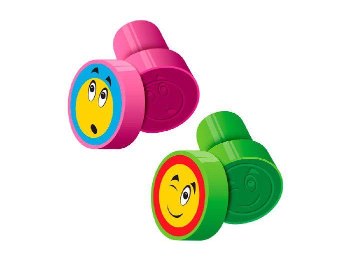 Carimbo Stamp Carinhas, Caixa Com 24 Unidades, Cis - Cores Sortidas - 423300