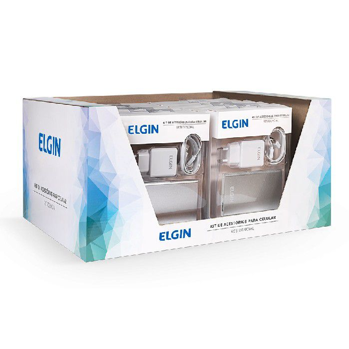 Carregador Kit de Acessórios para Celular Residencial, Elgin - 46RKITCASA00