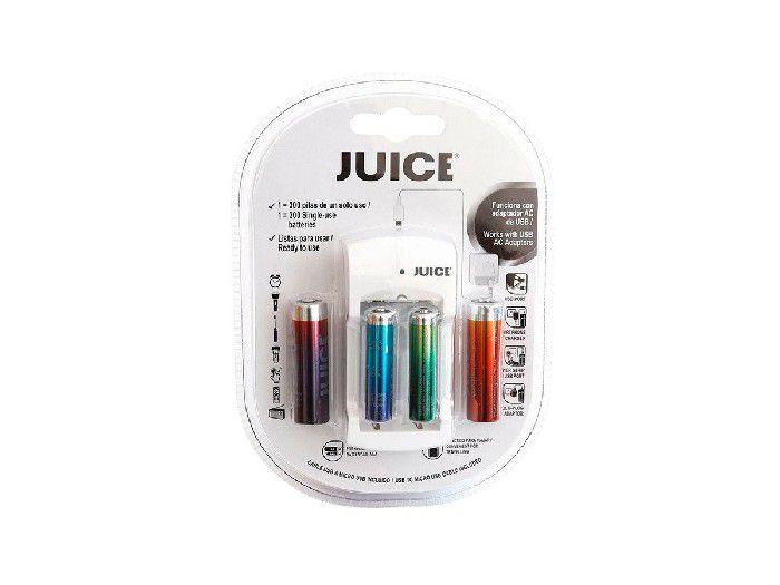 Carregador USB 2 Pilhas AA Rec 1000-2 Pilhas AAA Rec Juice JERHOJ310001