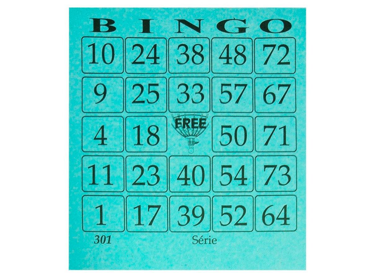 Cartela de Bingo Free Azul, 100 Folhas, Pacote C/ 15 Blocos - 9