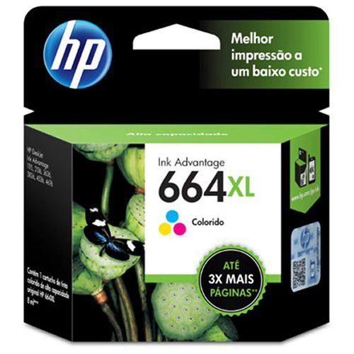 Cartucho HP 664XL colorido F6V30AB