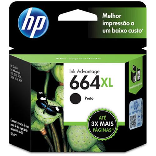 Cartucho HP 664XL preto F6V31AB