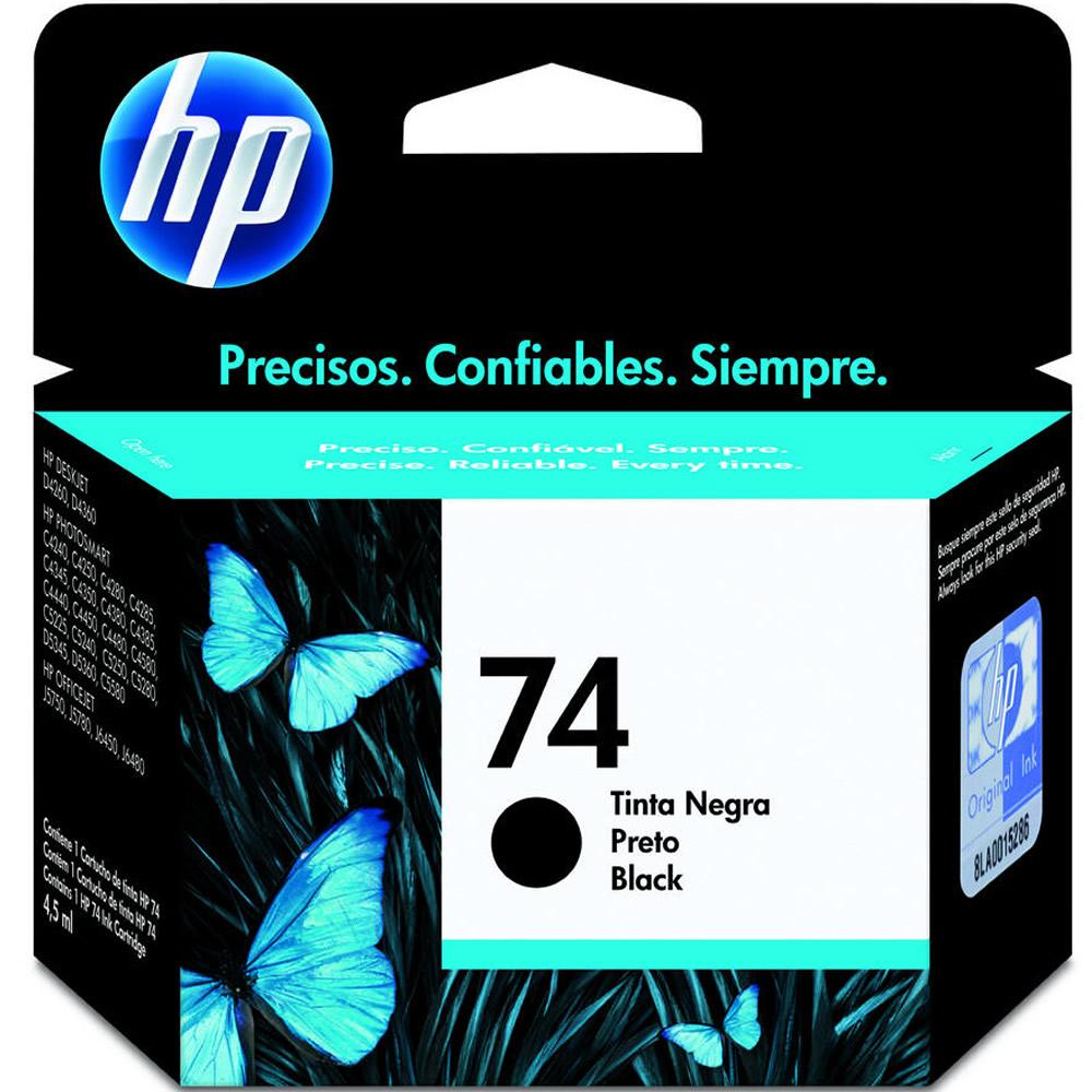 Cartucho HP 74 CB335WB 5ml - Preto