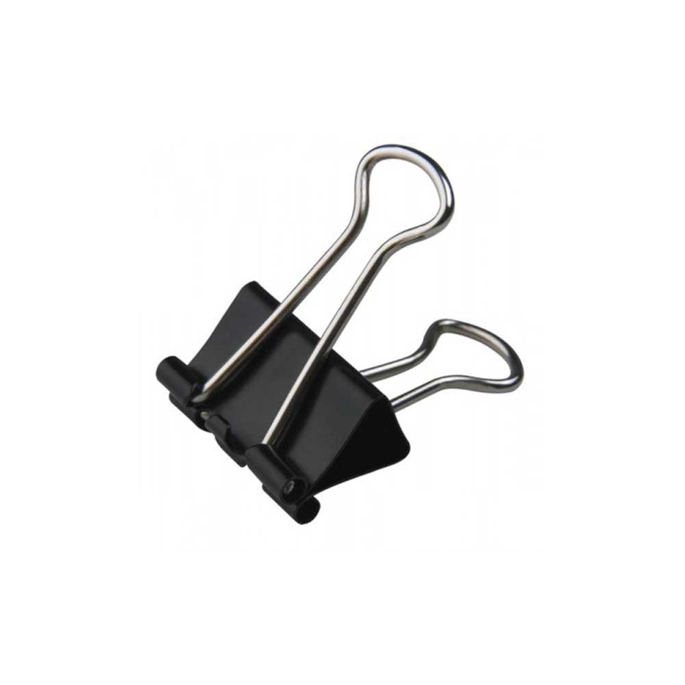 Clips 51 MM Metal Preto Binder Caixa Com 12 Unidades Tris - 664767