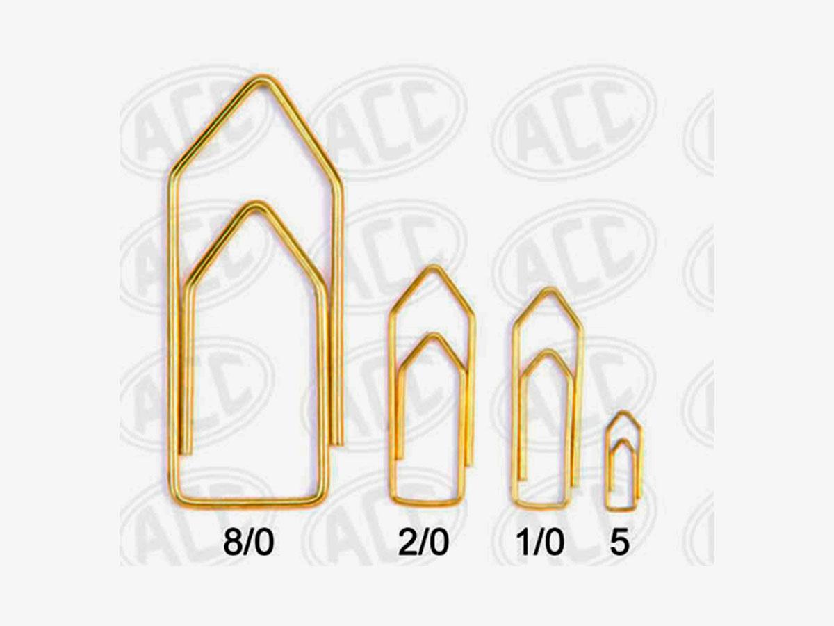 Clips Latonado (dourado) Nº 5, Contém 100 Unidades, Pacote C/10 Caixinhas - ACC
