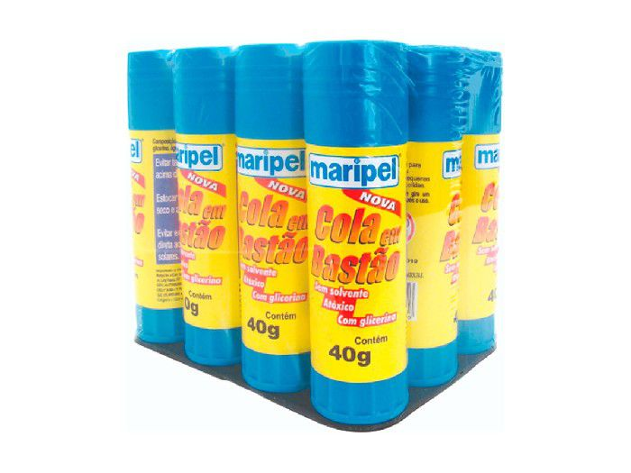 Cola Bastão 40gr Caixa Com 12 Unidades Maripel - 4440