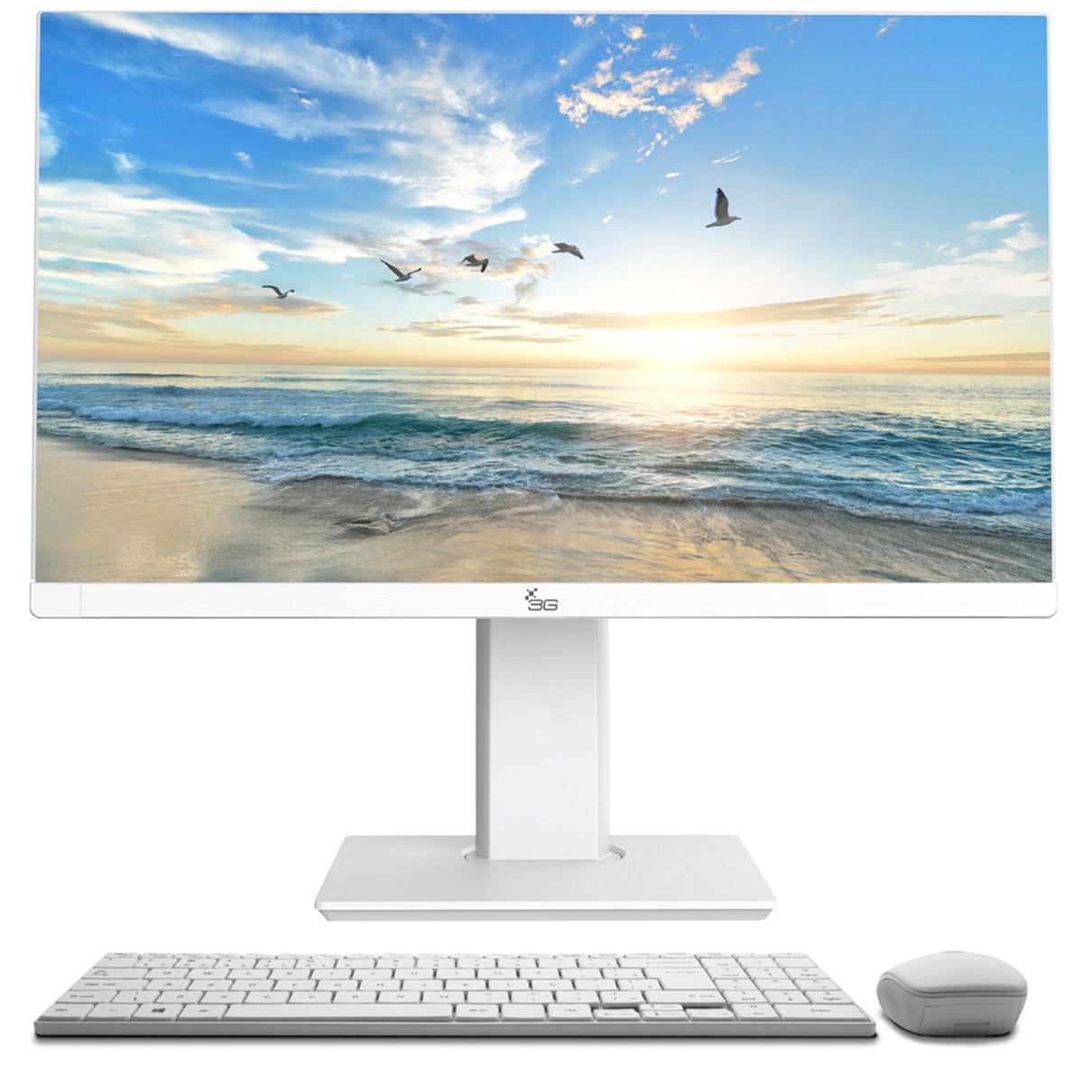 Computador All In One 3Green Intel I5 2.4GHz, 8GB, HD 500GB, Linux, Ajuste Alt/Rotação, Branco