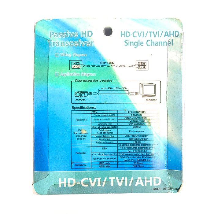 Conector Balun AHD / HD-CVI / HD-TVI