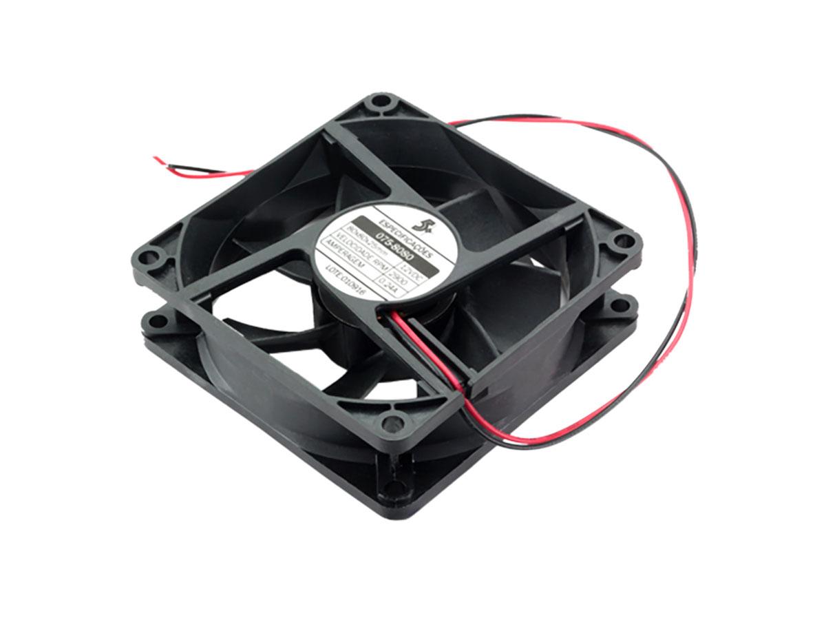 Cooler 80x80 5+ 25mm 12v - 075-8080