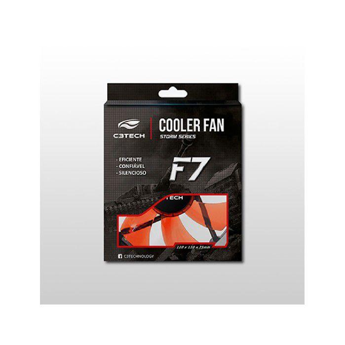 Cooler Fan C3tech F7-l100rd Storm 12cm Led Vermelho
