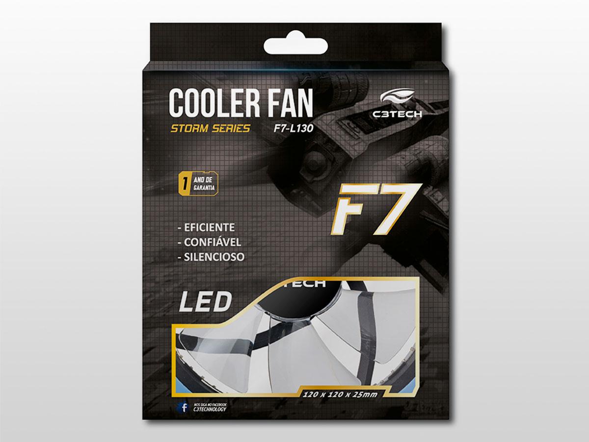Cooler Fan C3tech F7-L130BL Storm 12cm 30led Azul
