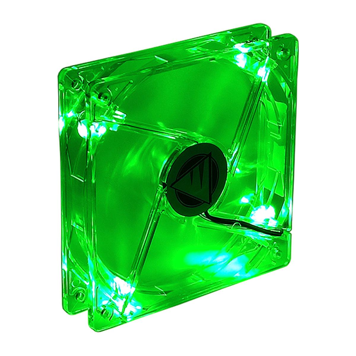 Cooler FAN Gamer Bluecase BF-01G, 120mm, LED Verde