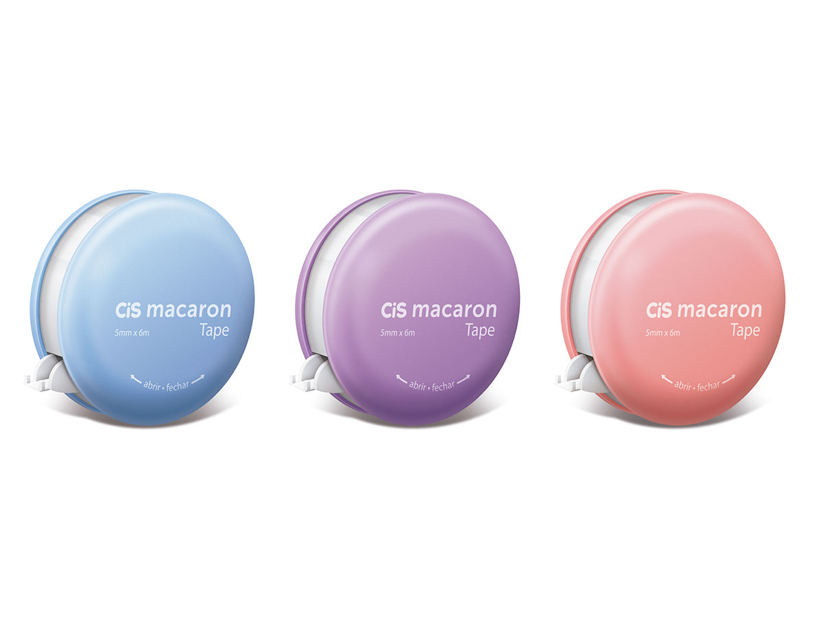 Corretivo Fita Macaron Tape 5mm x 6m, Display c/ 6 Unidades - Cis - 538400