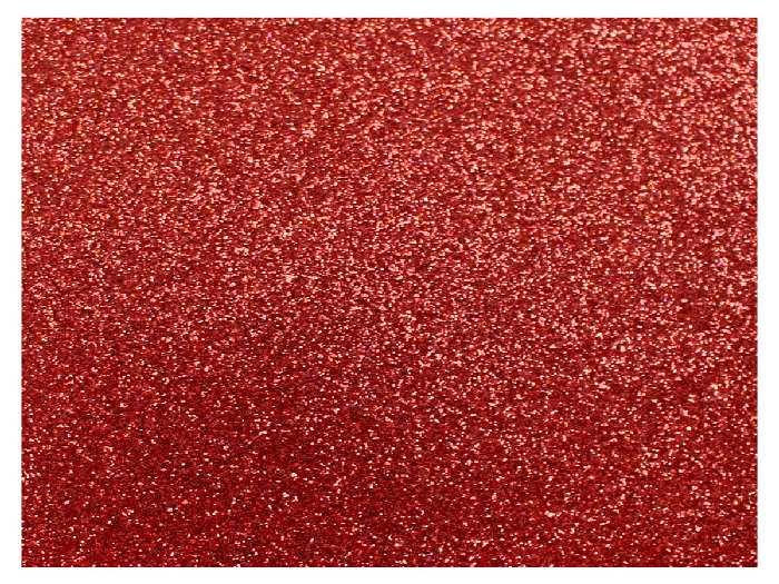 E.V.A. Glitter 40 x 60 cm, Pacote Com 05 Folhas, Make+ - Vermelho