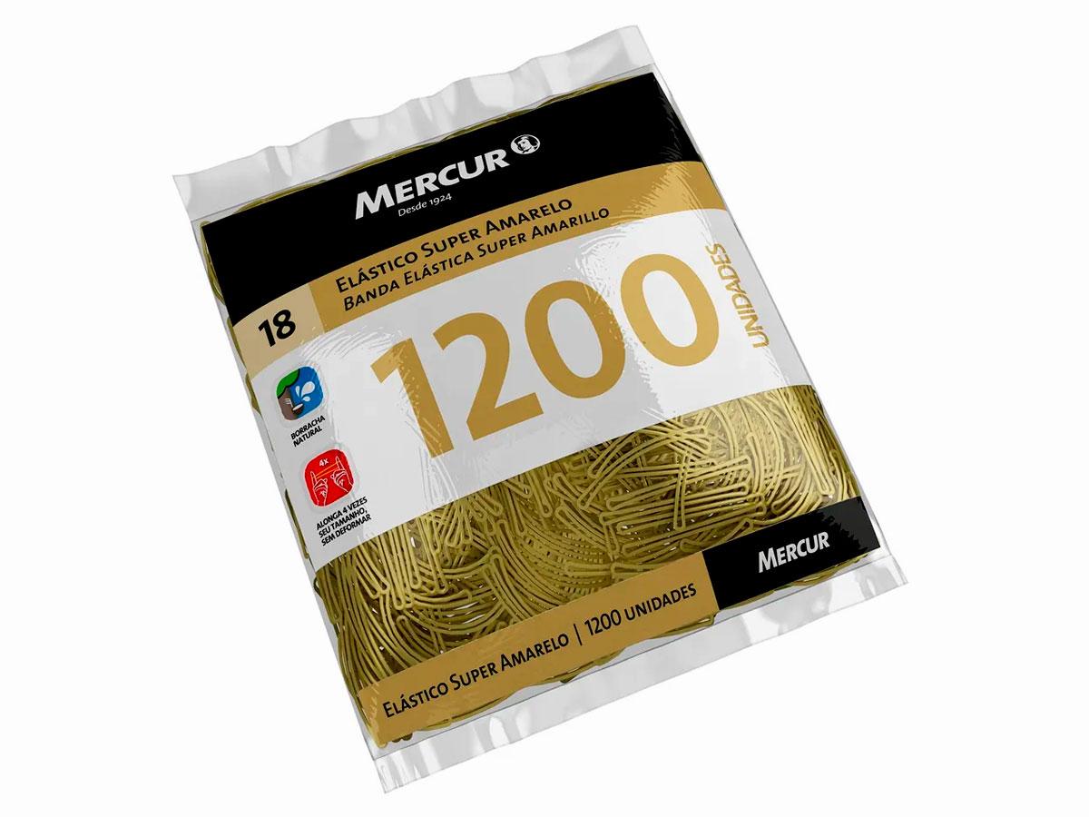 Elástico Super Amarelo Pacote Com 1200 Unidades Mercur - B0501041807