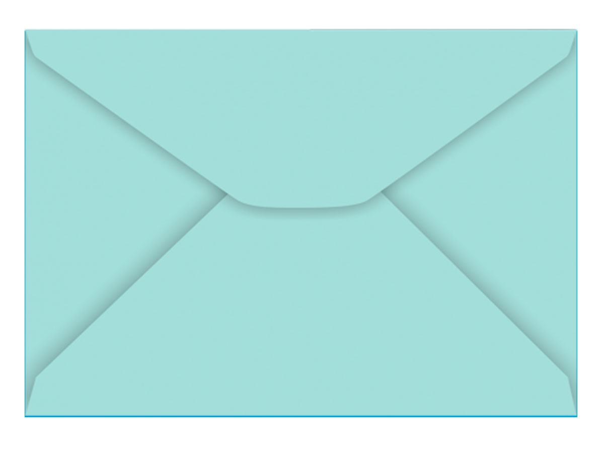 Envelope Carta Azul Turquesa 80g, Caixa C/ 100 Unidades, Foroni