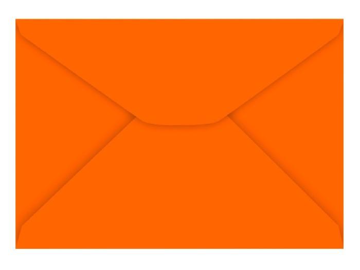 Envelope Carta Laranja 80g, Caixa C/ 100 Unidades, Foroni