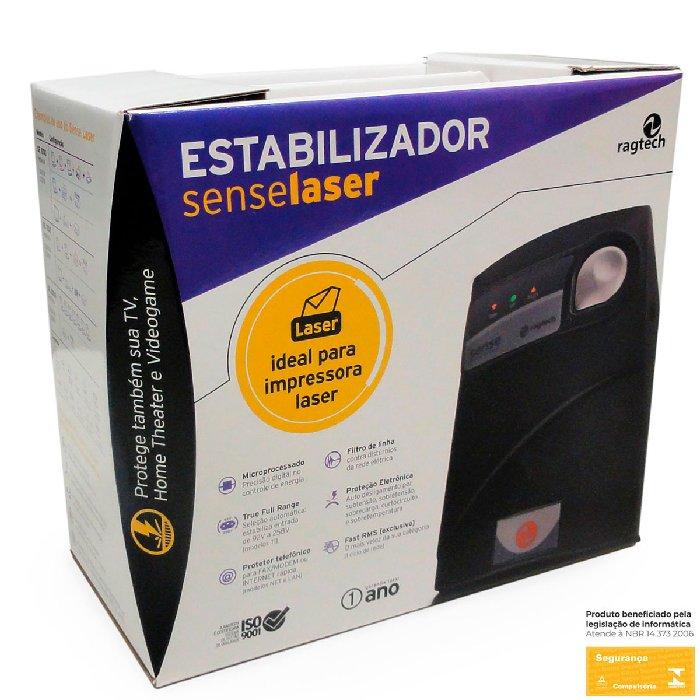 Estabilizador 2000VA Ragtech Sense Laser SE 2000SN M2, Monovolt 220/220V, 6 Tomadas - 20SEL3488