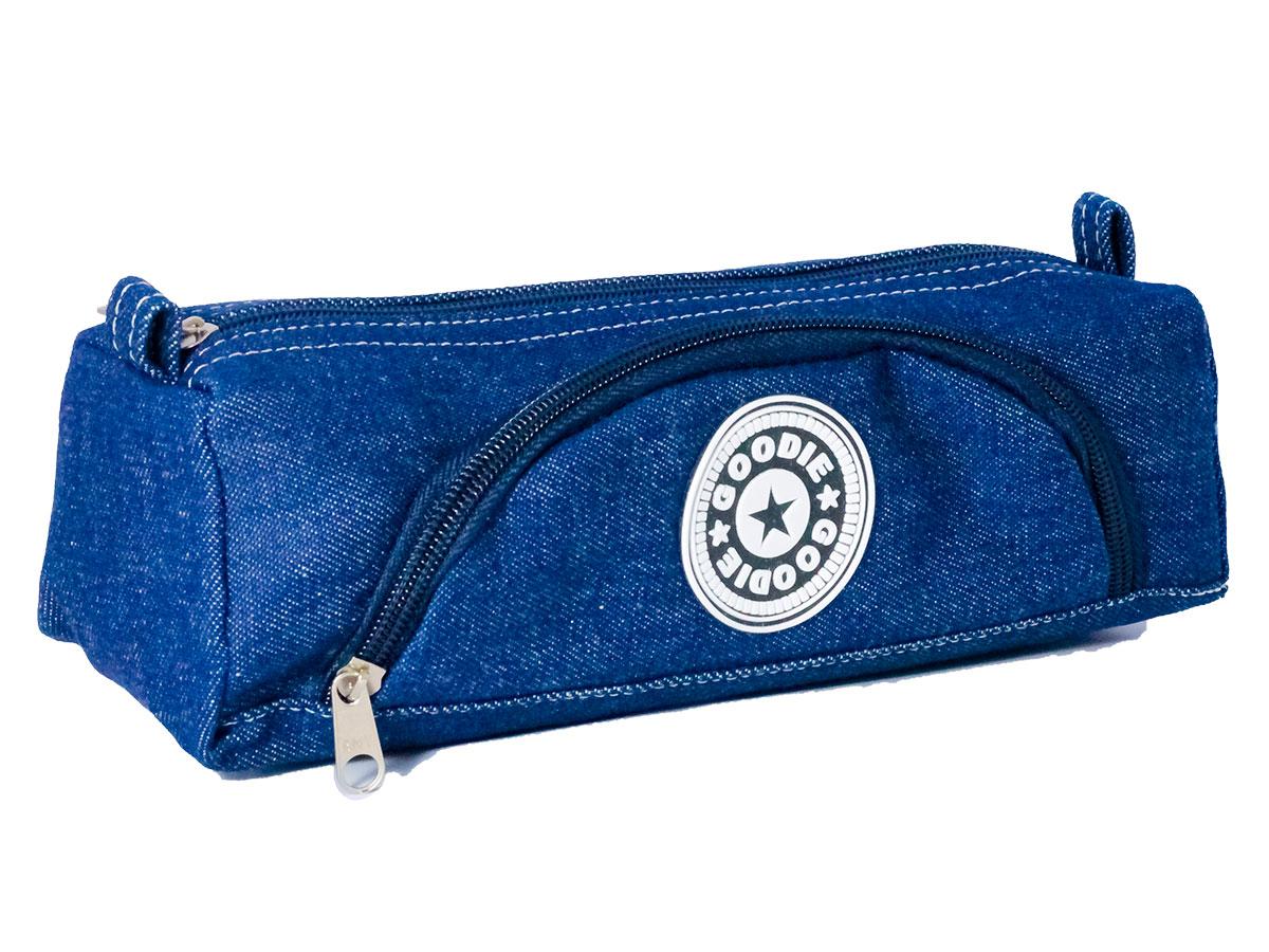 Estojo Duplex Jeans, Com Bolso, Pacote Com 3 Unidades - Goodie