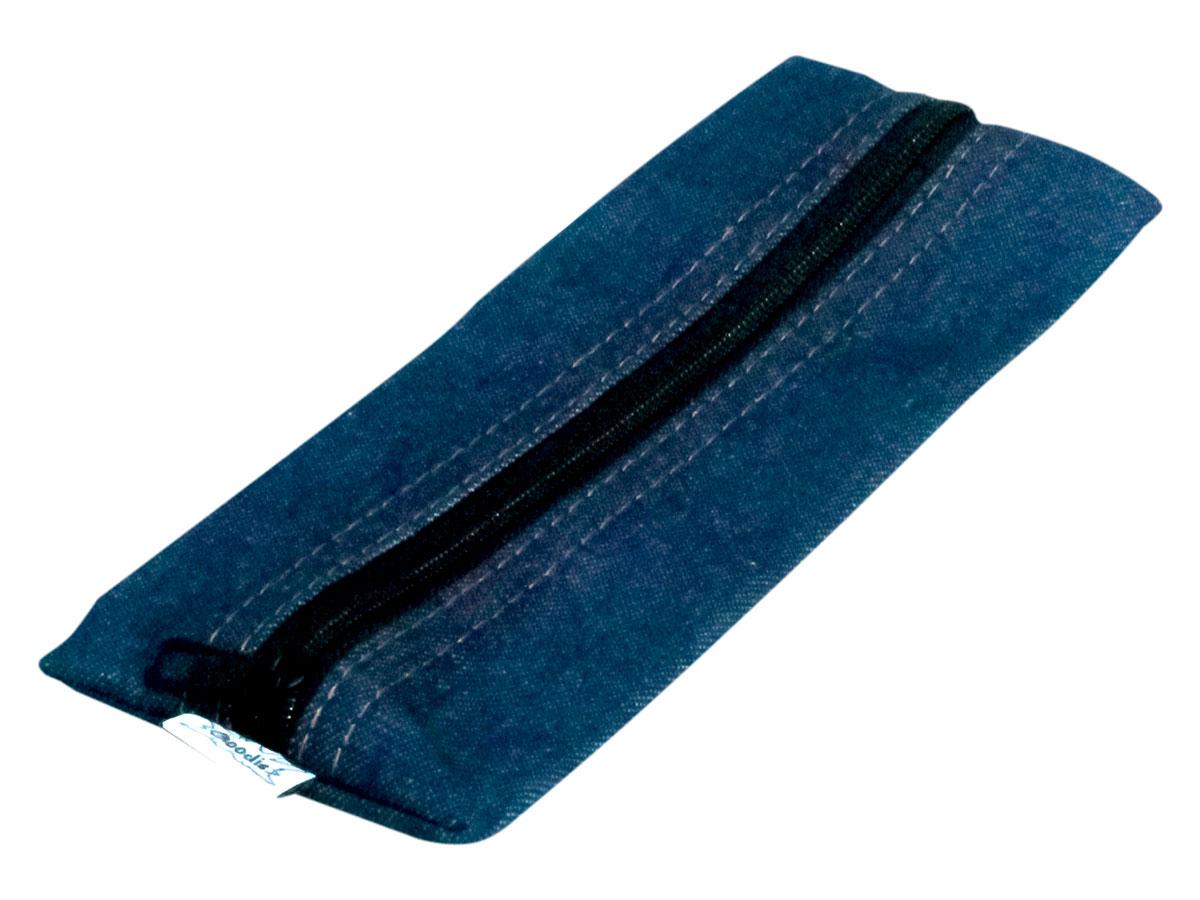 Estojo Jeans Flat, Com Ziper, Pacote Com 12 Unidades - Goodie