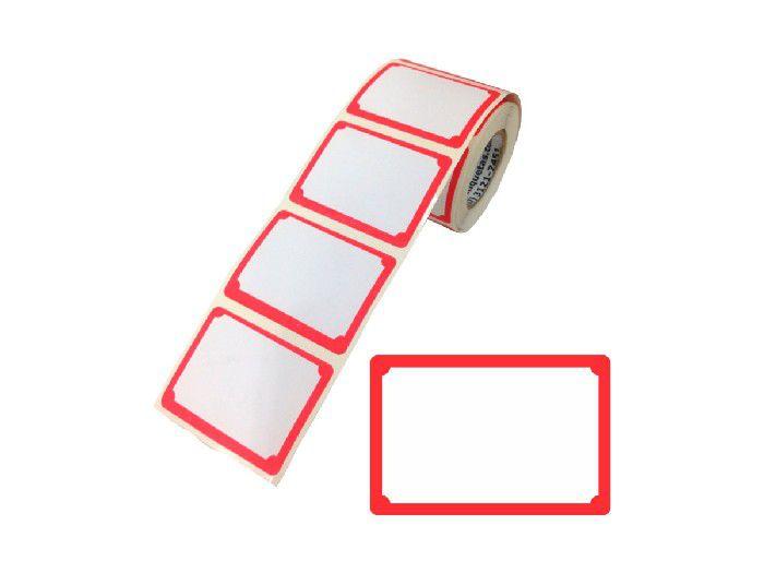 Etiqueta Preço (tarjada), 60 x 40 mm, Contém 150 Unidades, Link Etiquetas - Vermelha - 3004