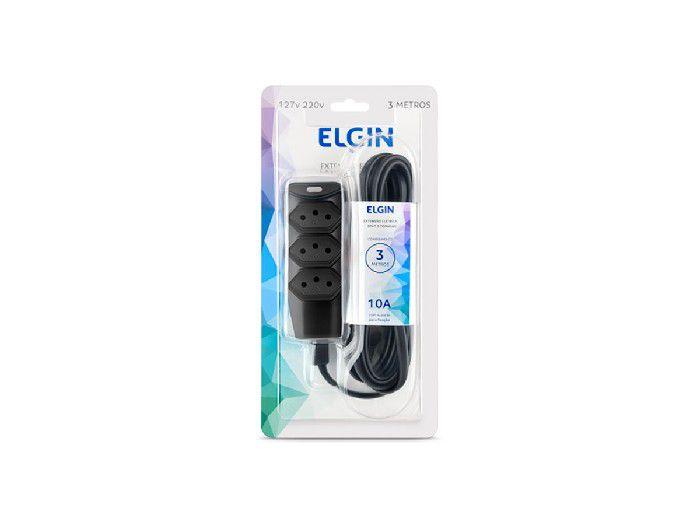 Extensão Elétrica 3 Tomadas, 3 Pinos 2P+T, 3M, Elgin - 46REX303003M
