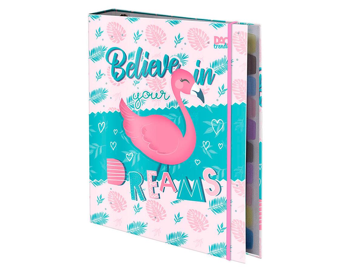 Fichário Universitário C/ Elástico Trendy Flamingo - Dac - 3031