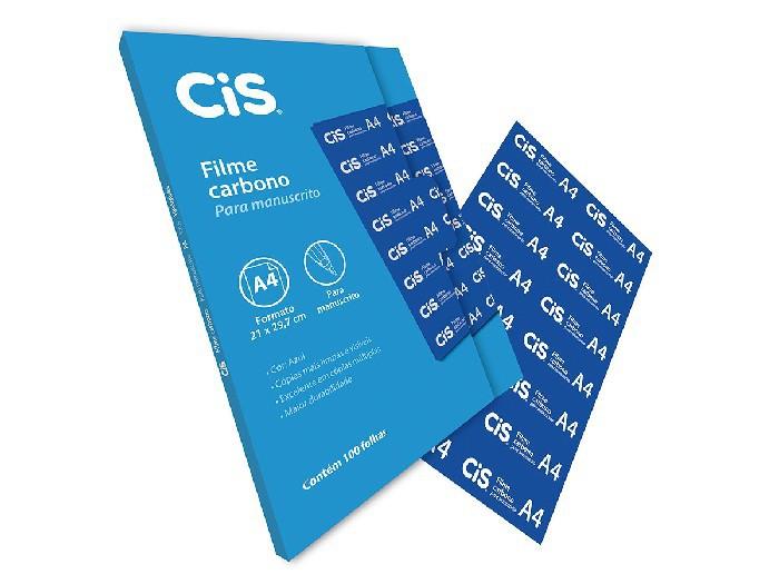 Filme Carbono A4, Contém 100 Folhas, Cis - Azul - 302000