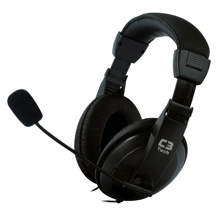 Fone c/ Microfone C3TECH Voicer MI-2260ARC Confort
