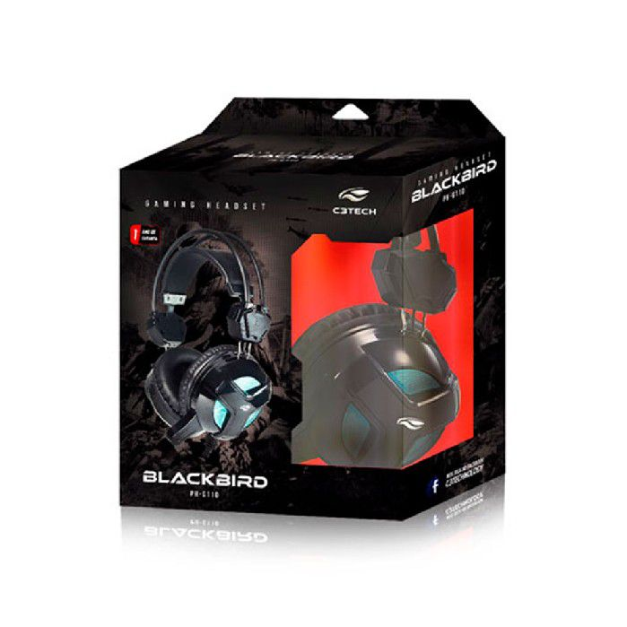 Fone C/microfone Gamer C3tech Blackbird Ph-g110bk