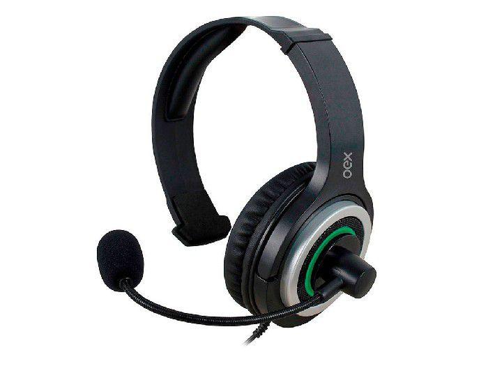 Fone C/microfone Gamer Oex Army P/xbox One Preto/verde HS408