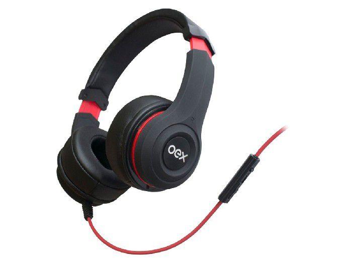 Fone C/microfone Oex Smooth Preto HS204
