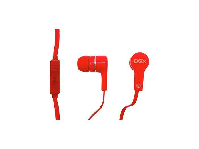 Fone C/microfone Pop Oex Vermelho FN207