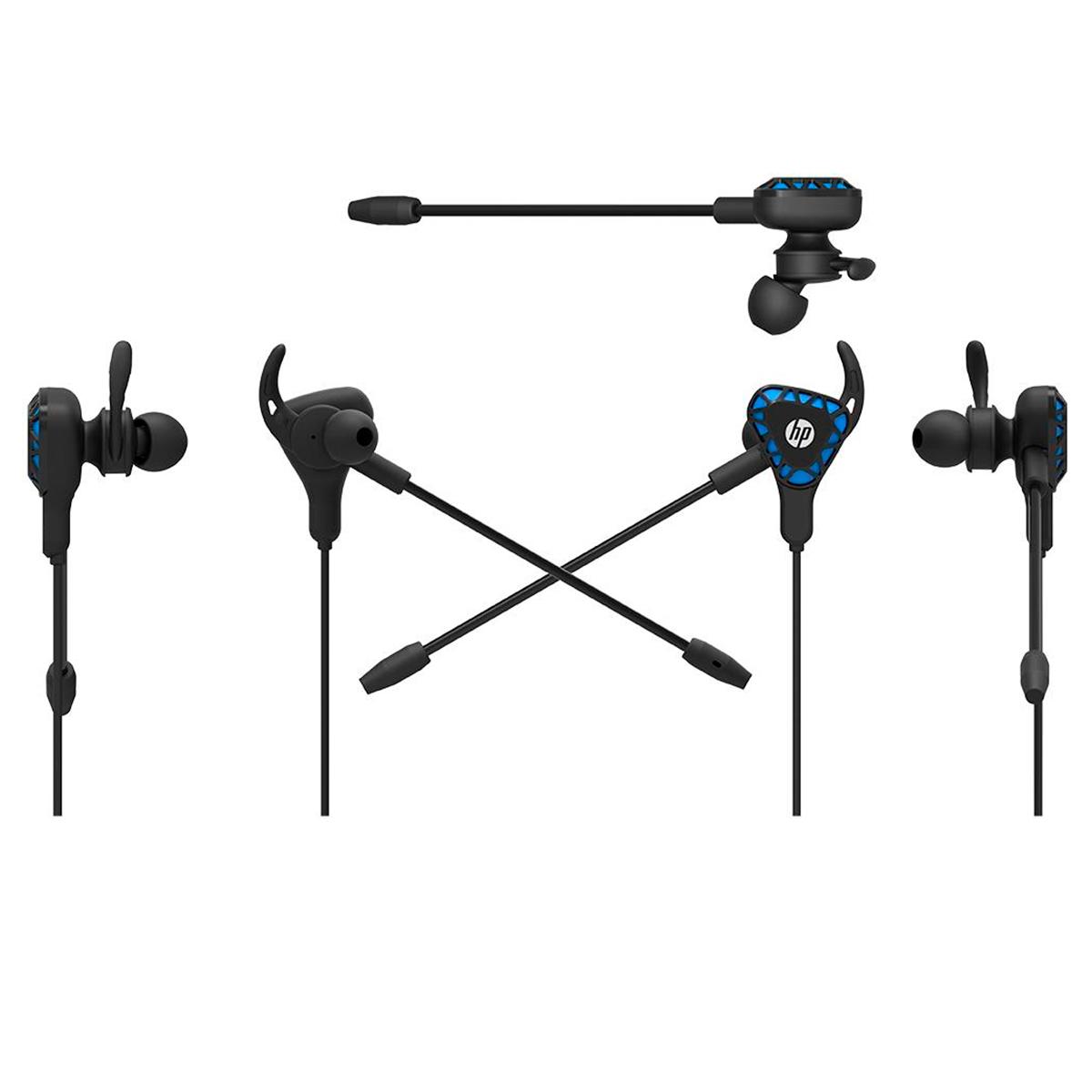 Fone de Ouvido Gamer Intra HP H150, P2 3.5 mm, C/Microfone, Preto