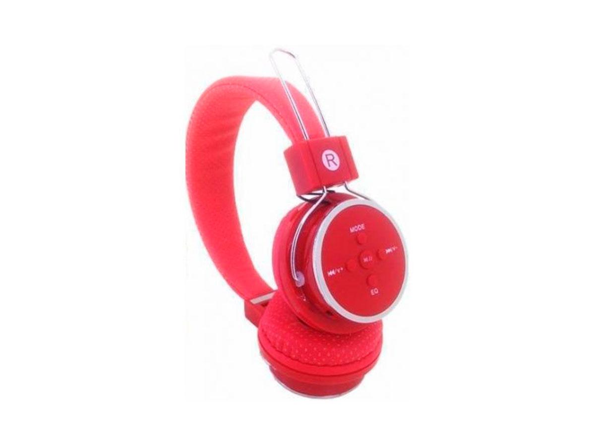 Fone de Ouvido GV Brasil B-05, Bluetooth, P2 3.5mm, Vermelho - FN.478