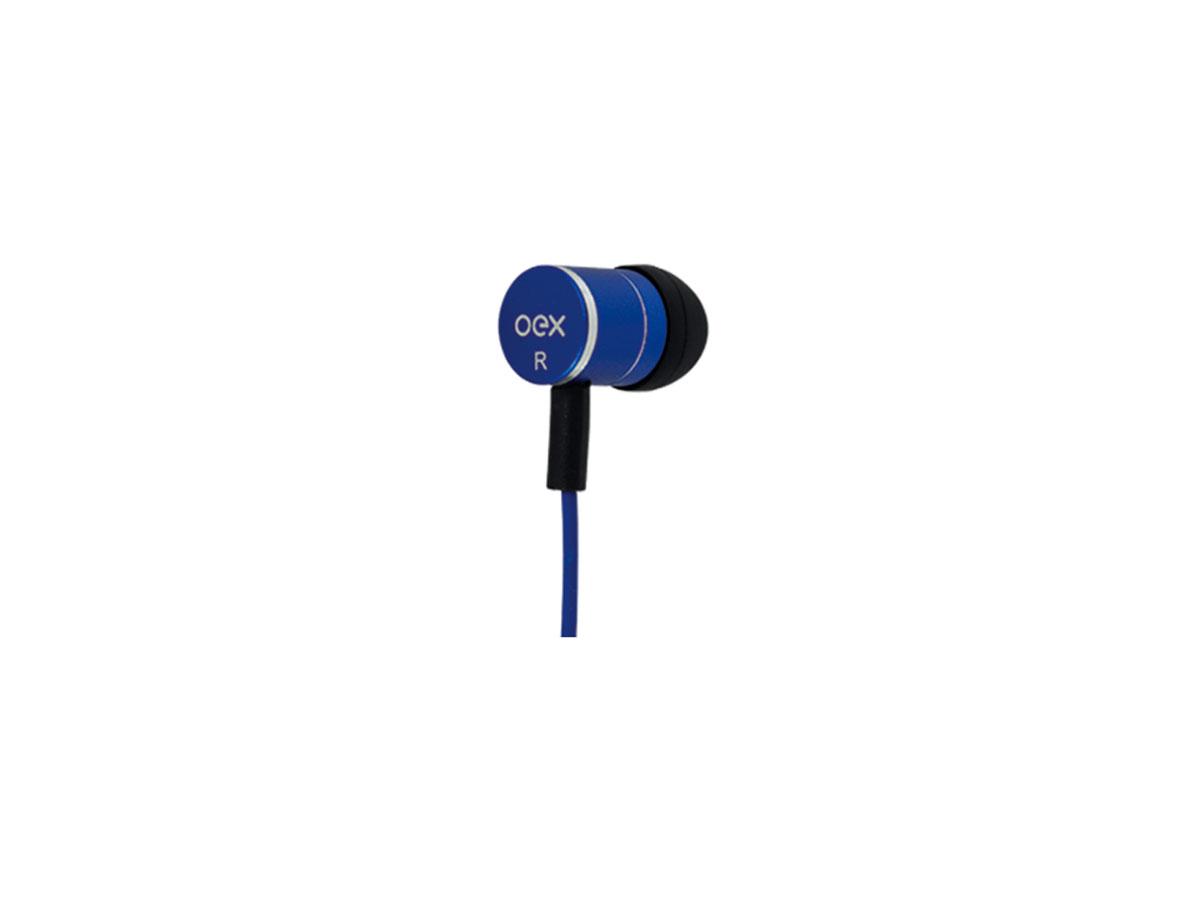 Fone de Ouvido OEX Fleet FN404, P2 3.5mm, C/Microfone, Azul