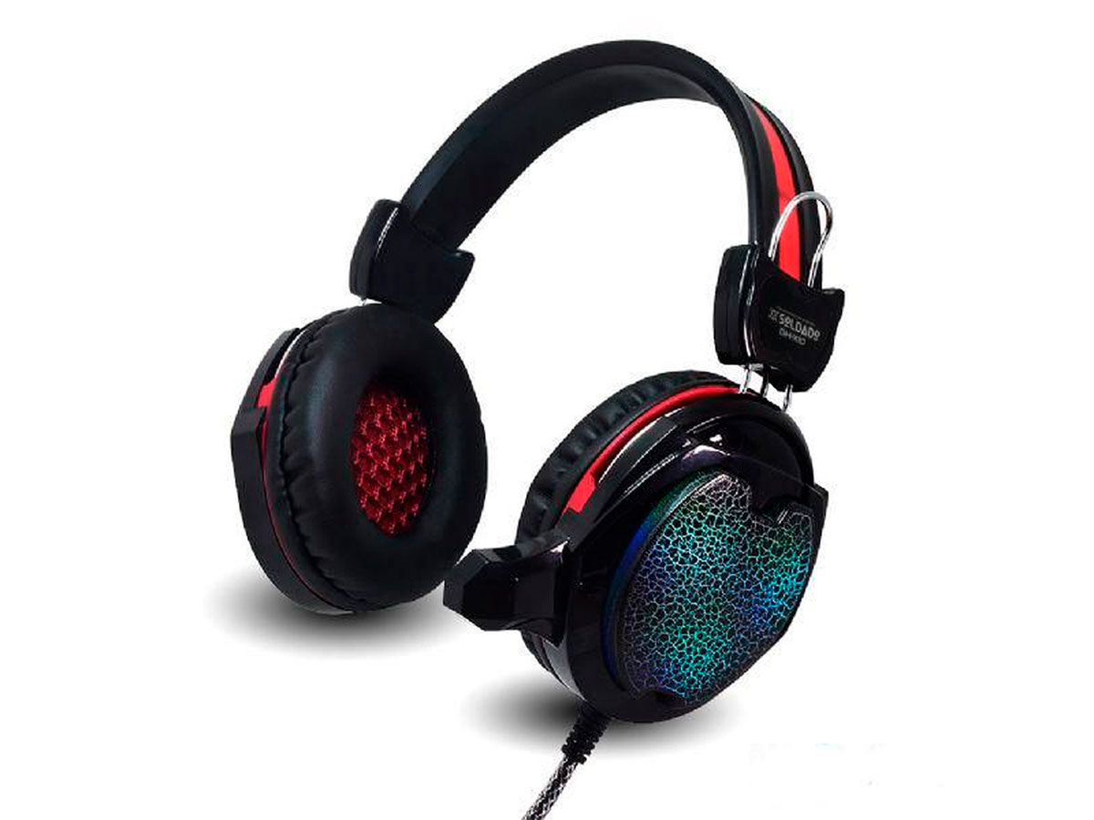 Fone Gamer C/microfone Infokit Luz LED Colorida Cabo Reforçado GH-X10