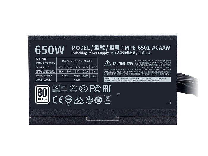 Fonte ATX Cooler Master MWE White Range 650W MPE-6501-ACAAW-BR