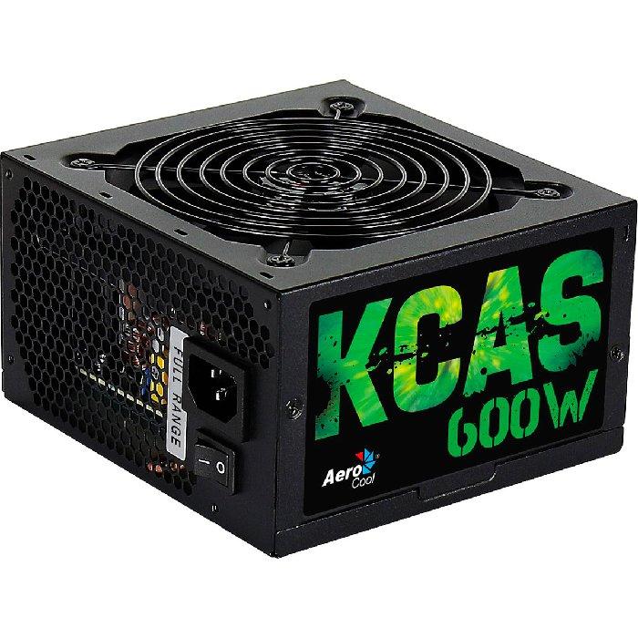 Fonte Gamer Aerocool KCAS 600W 80 Plus Bronze Full Range PFC Ativo