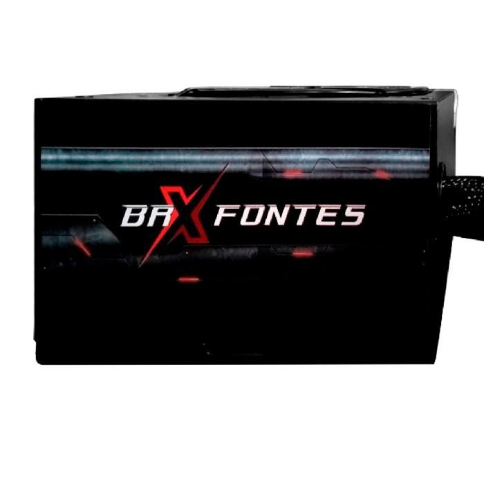 Fonte Gamer ATX BRX B-S650W, 650W Real, Cooler120mm, Bivolt Chaveada