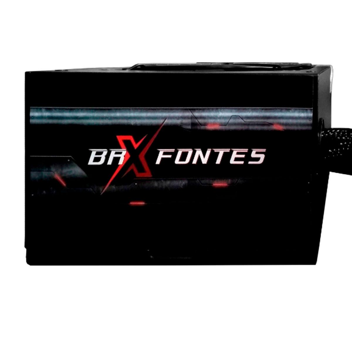 Fonte Gamer ATX BRX B-S750W, 750W Real, Cooler120mm, Bivolt Chaveada