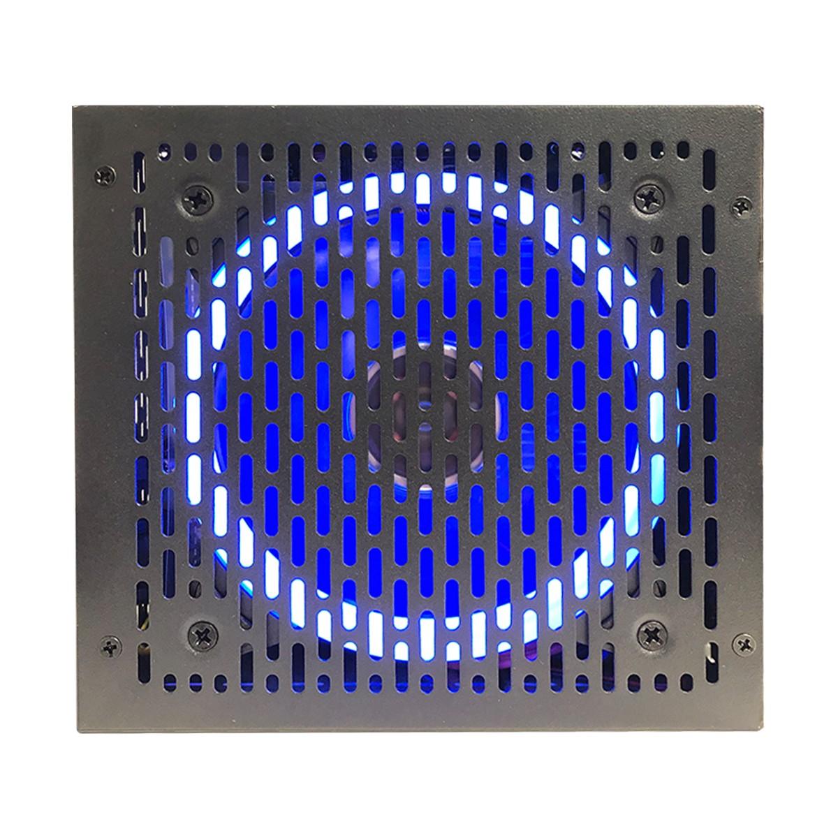 Fonte Gamer ATX BRX Rainbow 850W Real, 80 Plus Bronze, Cooler 120mm RGB, Bivolt Automático