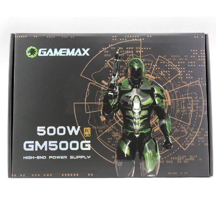 Fonte Gamer ATX Gamemax GM500G 500W Semi-Modular 80 Plus Gold PFC Ativo Preta