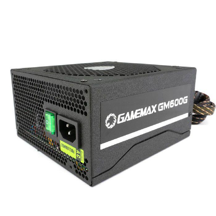 Fonte Gamer ATX Gamemax GM600G 600W Semi-Modular 80 Plus Platinum PFC Ativo Preta