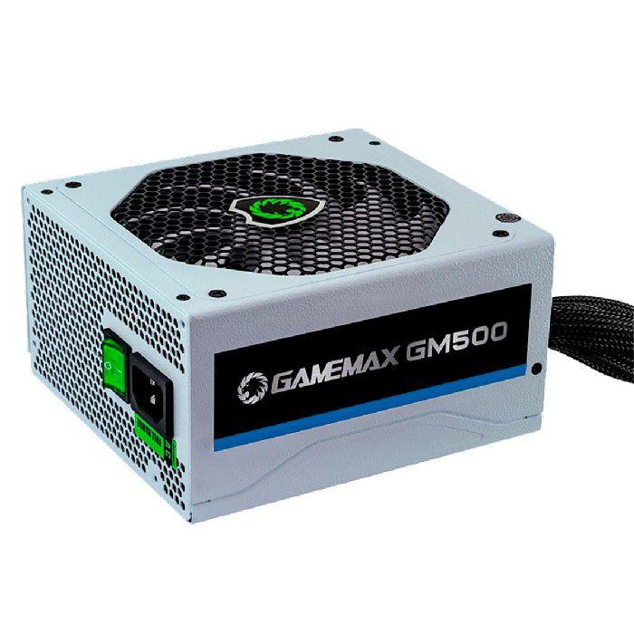 Fonte Gamer Gamemax GM500 80 Plus Bronze 500W Branco OEM