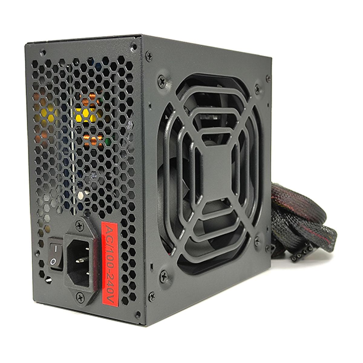Fonte Gamer KTROK KT-FT 500W 80 Plus Bronze, PFC Ativo, Bivolt Automático