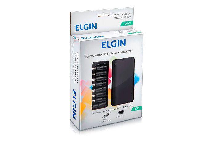 Fonte para Notebook Universal 90w, 9 Adaptadores e Saída USB, Elgin - 46RFTE90W000