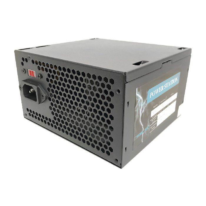 Fonte Power Station GBX-500 AF-B 500W Bivolt Preto com Cabo e Caixa