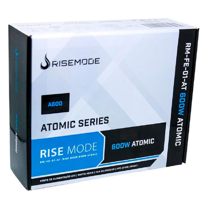 Fonte Rise Atomic A600 80 Plus Bronze 600W - RM-FE-01-AT