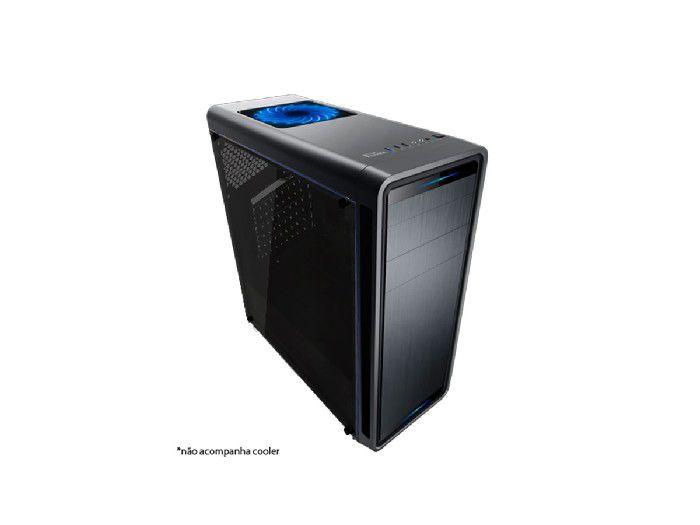 Gabinete Brazil PC Gamer GM8018-BB S/ Fonte Lateral Acrilico